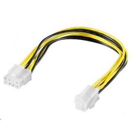PREMIUMCORD Redukce napájení 8 pin/Female zdroj na P4 4pin/Male