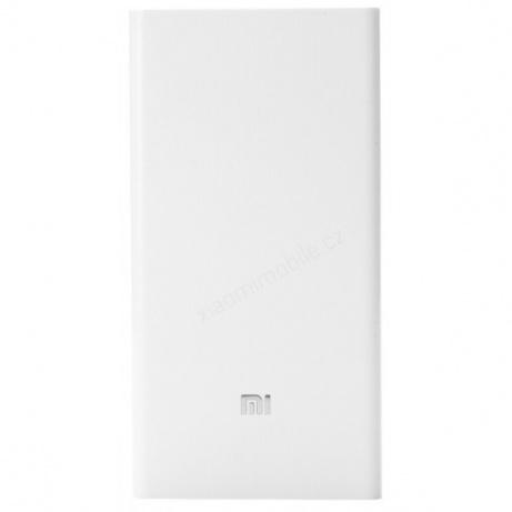 Xiaomi Powerbank 20000 mAh - externí bateriový zdroj, bílá