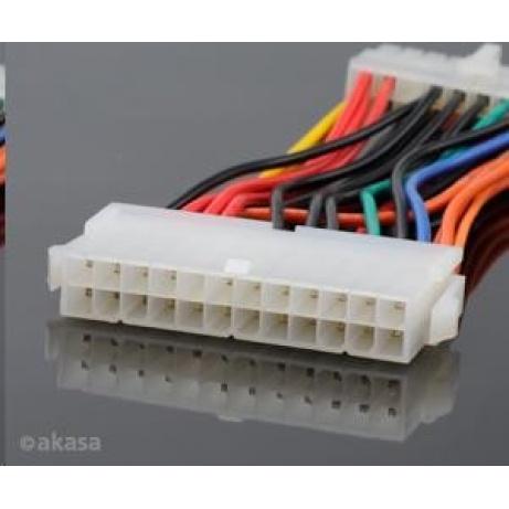 AKASA kabel redukce napájení z 24pin ATX na 20pin ATX 12V, 10cm
