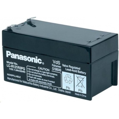 Baterie - Panasonic LC-R121R3PG (12V/1,3Ah - Faston 187), životnost 6-9let