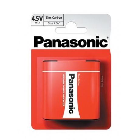PANASONIC Zinkouhlíkové baterie Red Zinc 3R12RZ/1BP Plochá 4,5V (Blistr 1ks)