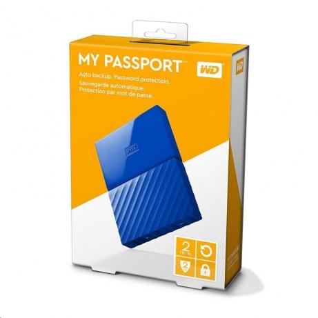 "BAZAR - WD My Passport 2TB Ext, 2,5"" USB3.0, BLUE"
