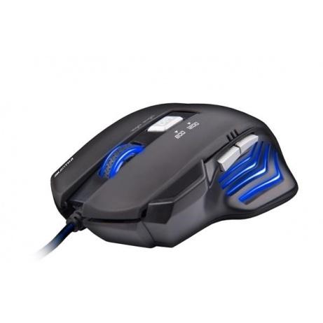 C-TECH myš AKANTHA, herní, modré podsvícení, 2400 DPI, USB