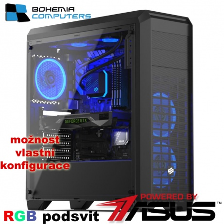 BOHEMIAPC - ASUS VODNÍK herní RYZEN 5 6X3.6GHZ/16GB DDR4/120GB + 1TB HDD/GTX1060 3GB/ POWERED BY ASUS - BCR51600GT10603G