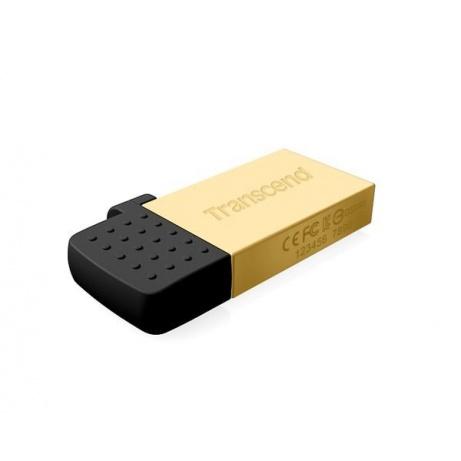 TRANSCEND Flash Disk 16GB JetFlash®380G, USB 2.0/micro USB (R:20/W:5 MB/s) zlatá