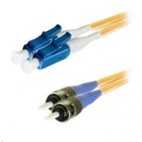 Duplexní patch kabel SM 9/125, OS2, LC-ST, LS0H, 1m