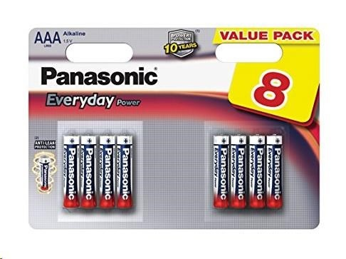 PANASONIC Alkalické baterie - Everyday Power  AAA 1,5V balení - 8ks