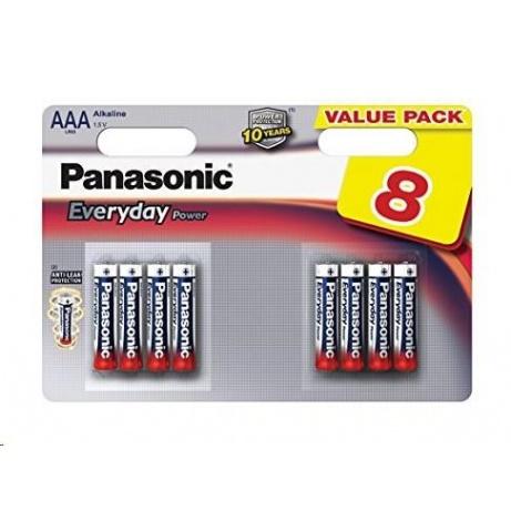 PANASONIC Alkalické baterie Everyday Power  LR03EPS/8BW AAA 1,5V (Blistr 8ks)