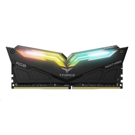 DIMM DDR4 16GB 3200MHz, CL16, (KIT 2x8GB), TEAM T-FORCE Night Hawk RGB (Black)