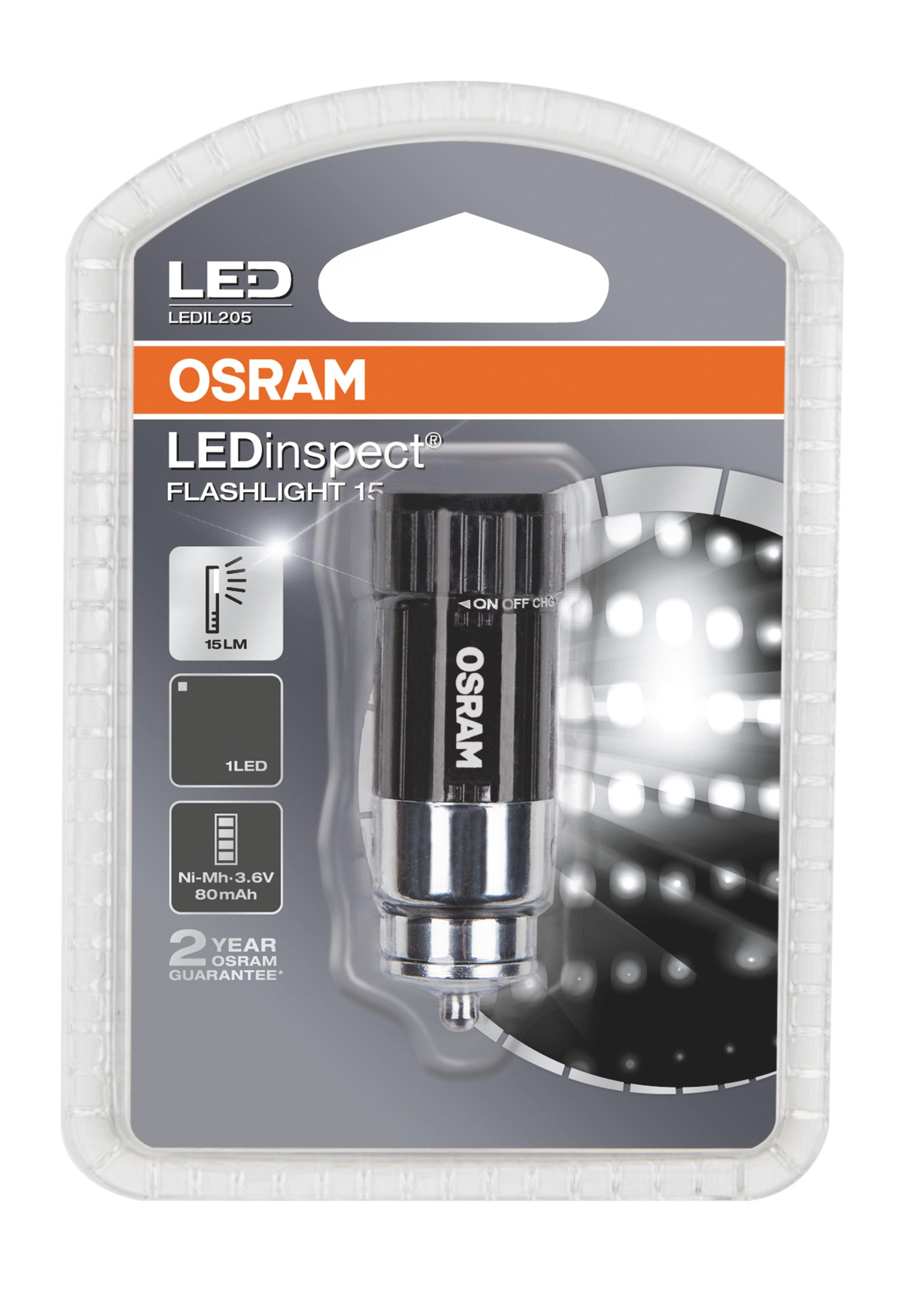 OSRAM Pracovní svítilna LED inspection 3,6V 0,5W 15lm černá (Blistr 1ks)