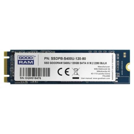 GOODRAM SSD S400U, 120GB M.2 2280 (R:550/ W:530MB/s)