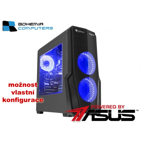 BOHEMIAPC - ASUS herní RYZEN 3 4X3.1GHZ/4GB DDR4/1TB HDD/GT1030 2GB/ POWERED BY ASUS - BCR31200GT10302G