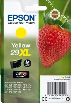 EPSON ink bar Singlepack Yellow 29XL Claria Home Ink