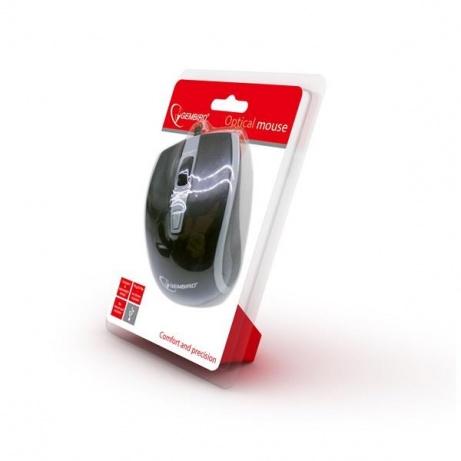 GEMBIRD myš MUS-UL-01, podsvícená, černá, 2400DPI, USB