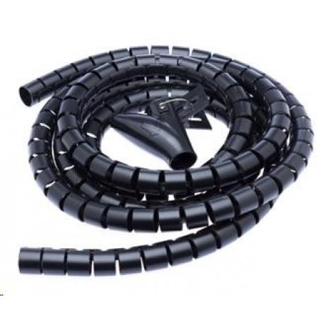 CONNECT IT trubice pro vedení kabelů WINDER, 2,5m x 20mm, černá (organizér kabelů)