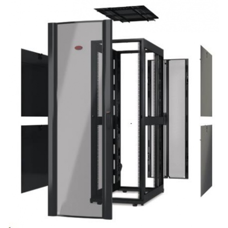 APC NetShelter SX 48U 750mm Wide x 1200mm Deep Enclosure Without Sides, Without Doors, Black