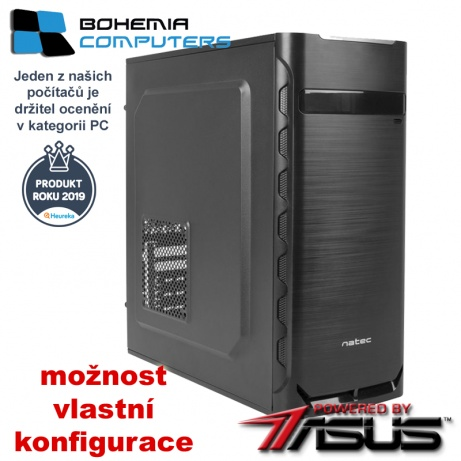 BOHEMIAPC - LEVNÝ HERNÍ RYZEN 5 6X3.6GHZ/ 8GB DDR4/ 480GB SSD/ GT1050Ti 4GB  - POWERED BY ASUS - BCR51600480SSD1050Ti