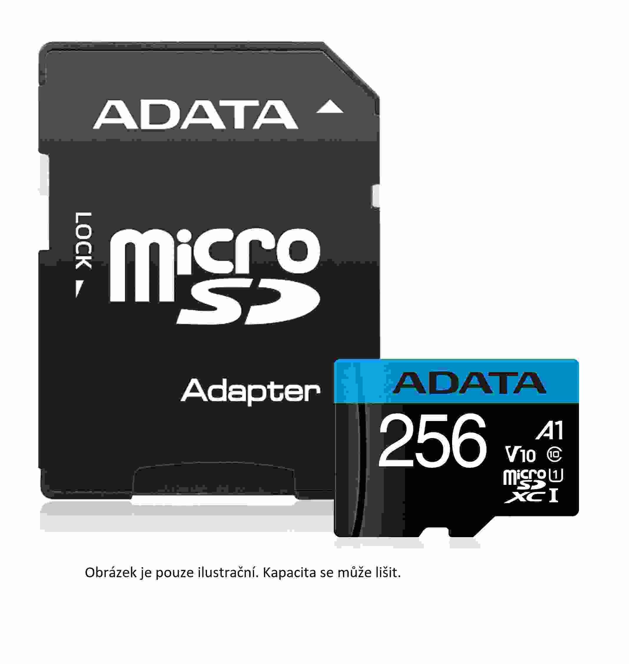 ADATA Micro SDHC karta 16GB UHS-I Class 10, Premier + ADAPTER