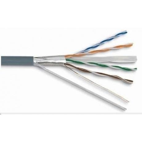 FTP kabel PlanetElite, Cat6, drát, PVC, Dca, šedý, 305m, cívka