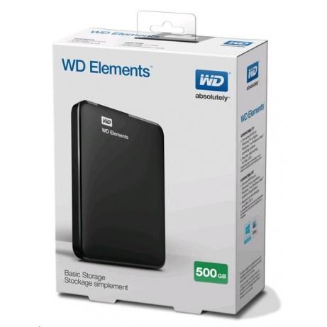 """BAZAR VADNÉ - WD Elements Portable 500GB Ext. 2.5"""" USB3.0, Black"""