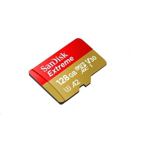 SanDisk MicroSDXC karta 128GB Extreme RescuePRO Deluxe(R:160/W:90 MB/s, A2 C10 V30 UHS-I) + adaptér