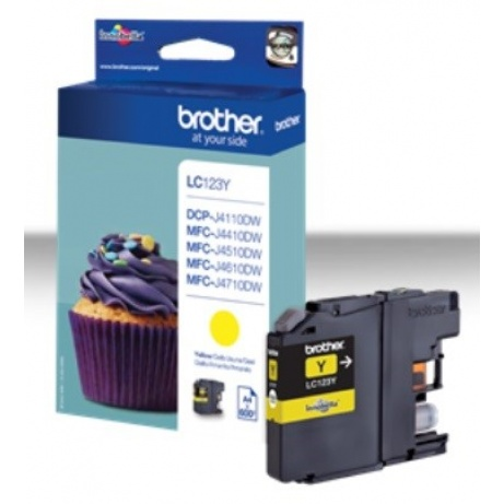 BROTHER INK LC-123Y yellow cca 600