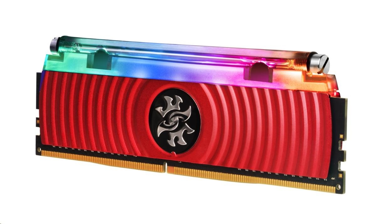 DIMM DDR4 16GB 3600MHz CL16 (KIT 2x8GB) ADATA SPECTRIX D80 RGB, Hybrid  Cooling, Dual Box, Red