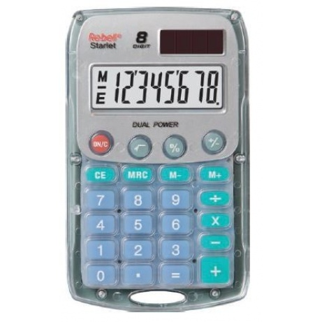 REBELL kalkulačka - Starlet BX - průhledná / krabička