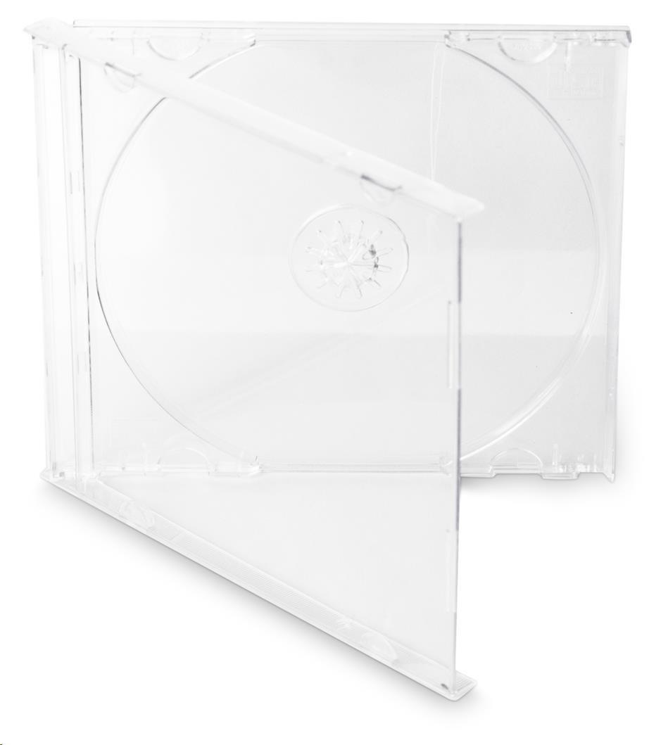 OEM Krabička na 1 CD 10mm jewel box + tray čirý 200 ks/bal