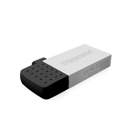 TRANSCEND USB Flash Disk JetFlash®380S, 32GB, USB 2.0/micro USB, Silver (R/W 20/7 MB/s)