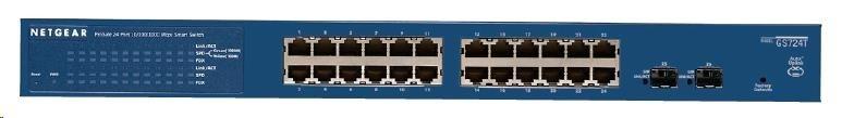Netgear GS724T ProSafe 24-port Gigabit Smart Switch, 2x SFP slot