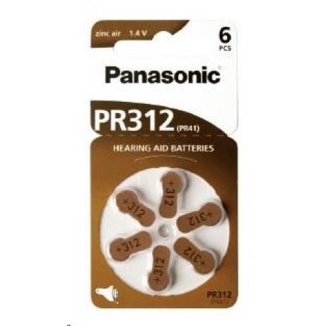 PANASONIC Zinkovzduchová baterie PR-312(41)/6LB AA 1,2V (Blistr 2ks)