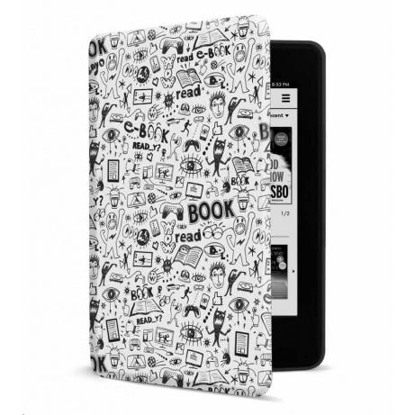 CONNECT IT pouzdro pro Amazon NEW Kindle Paperwhite 4 (2018), bílá Doodle