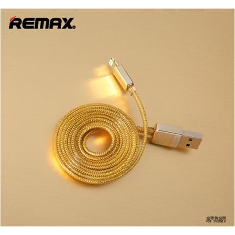 REMAX Datový kabel pro iPhone, zlatý