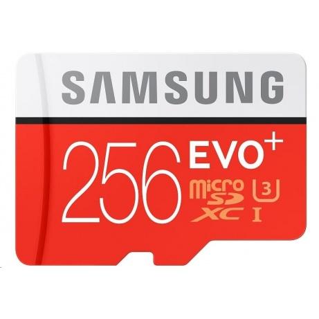 Samsung Micro SDXC karta 256GB EVO Plus (Class 10 UHS-I) + SD adaptér