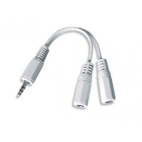 GEMBIRD Kabel audio 3,5mm Jack - 2x 3,5mm Jack (M/F, rozdvojka, stereo)