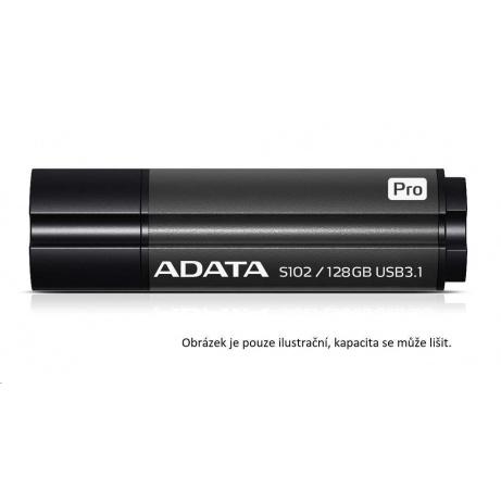 ADATA Flash Disk 64GB USB 3.1 Superior S102 Pro, hliníkový, šedý (R: 100MB / W: 50MB)