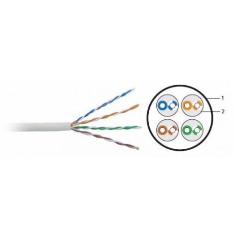 UTP kabel LYNX, Cat5E, drát, LS0H, Dca, šedý, 305m