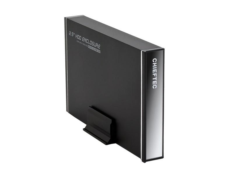 "CHIEFTEC externí rámeček na SATA HDD 2,5"" (max. 14.5mm), USB3.0, aluminium"