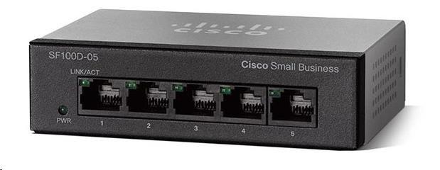 Cisco switch SF110D-05, 5x10/100