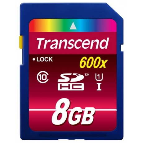 TRANSCEND SDHC Class 10 UHS-I, 600X, 8GB (Ultimate)