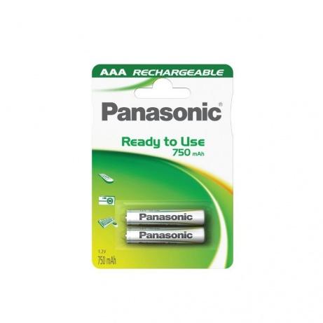 PANASONIC Nabíjecí baterie (Ready to Use - pro Časté použití) HHR-4MVE/2BC   750mAh AAA 1,2V (Blistr 2ks)