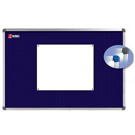 Textilní nástěnka NOBO ELIPSE, modrá, 120x90 cm