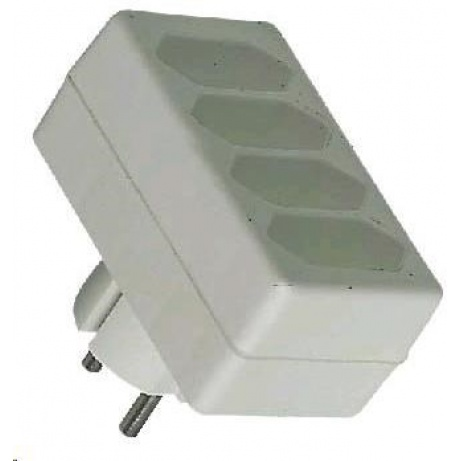 PREMIUMCORD Rozbočka 230V bílá 4x2,5A