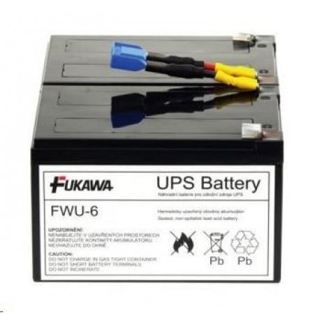 Baterie - FUKAWA FWU-6 náhradní baterie za RBC6 (12V/12Ah, Faston 250), životnost 3-5let