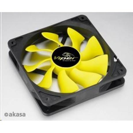 AKASA Ventilátor  Viper, 120 x 25mm, PWM regulace, extra výkonný a tichý, HDB ložisko