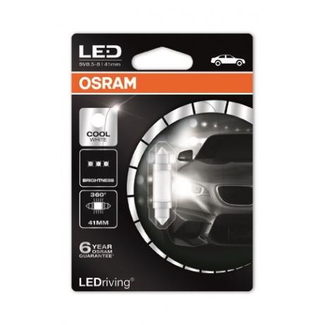 OSRAM autožárovka LEDriving® Premium 12V 1W SV8.5-8 41mm 6000K studená bílá (Blistr 1ks)