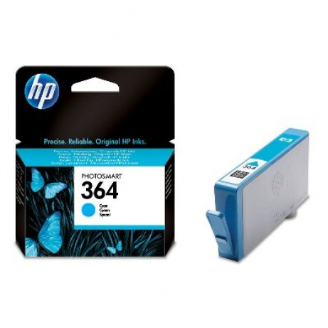 HP 364 Cyan Ink Cart, 3 ml, CB318EE
