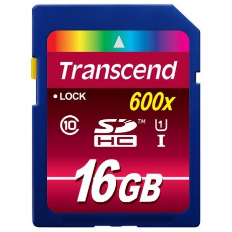 TRANSCEND SDHC Class 10 UHS-I, 600X, 16GB (Ultimate)