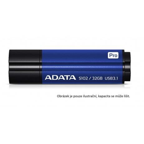 ADATA Flash Disk 64GB USB 3.1 Superior S102 Pro, hliníkový, modrý (R: 100MB / W: 50MB)